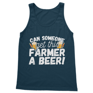 Can Someone Get This Farmer a Beer! Classic Adult Tank Top
