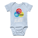 Beer is My Happy Place Classic Baby Onesie Bodysuit