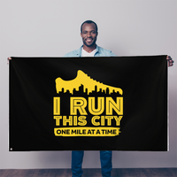 I Run This City One Mile At A Time Sublimation Flag