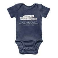 Some Of My Favorite Things Are Cycling Classic Baby Onesie Bodysuit