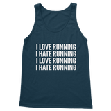 I Love Running I Hate Running Classic Adult Tank Top