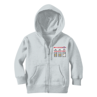 Weekend Weather Sunny With a Chance of Beer? Classic Kids Zip Hoodie