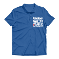 Running Side Effects Include Sweating, Euphoria and General Awesomeness Premium Adult Polo Shirt