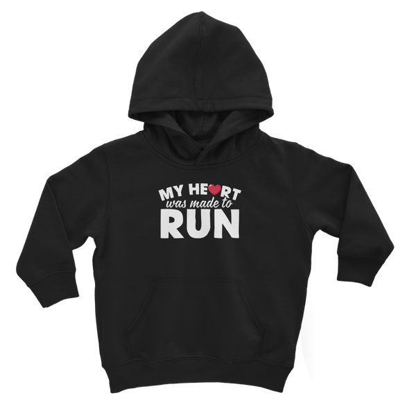 My Heart Was Made To Run Classic Kids Hoodie