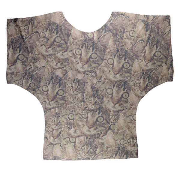 Cat Sublimation Batwing Top