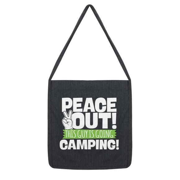 Peace Out This Guy is Going Camping! Classic Tote Bag