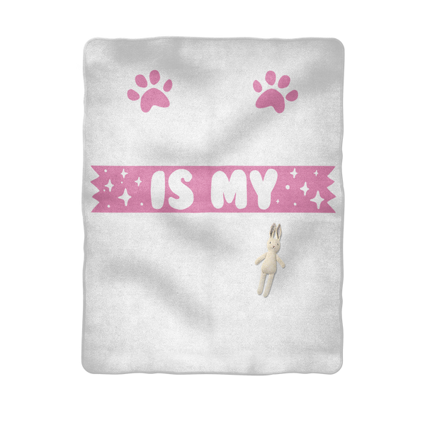 My Labrador Is My BFF Sublimation Baby Blanket