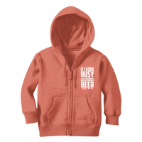 If I Look Busy Don't Disturb Me Unless You Plan To Take Me Beer Seriously. Only Beer Classic Kids Zip Hoodie