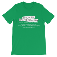 Some Of My Favorite Things Are Cycling Classic Kids T-Shirt