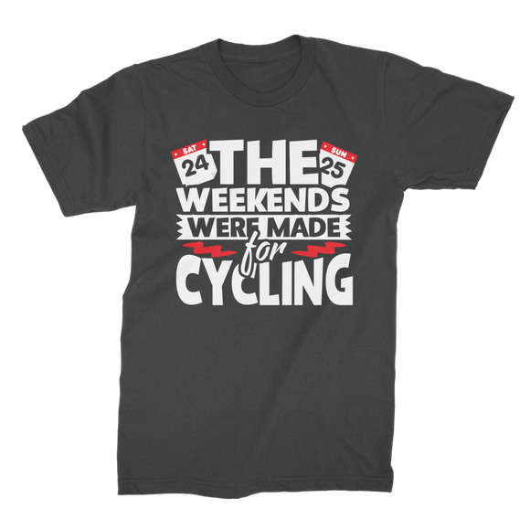 The Weekends Were Made For Cycling Premium Jersey Men's T-Shirt