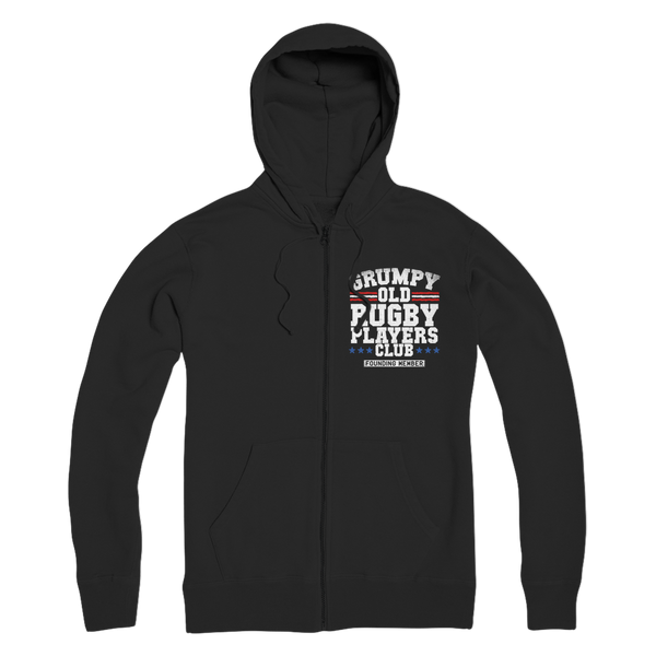 Grumpy Old Rugby Club Founding Member Premium Adult Zip Hoodie