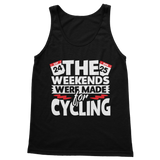 The Weekends Were Made For Cycling Classic Women's Tank Top