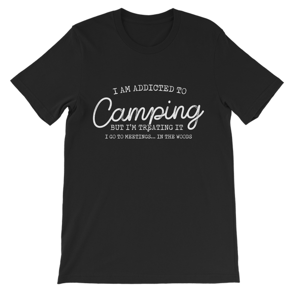 I Am Addicted To Camping But I'm Treating it I Go To Meetings... In The Woods Premium Kids T-Shirt