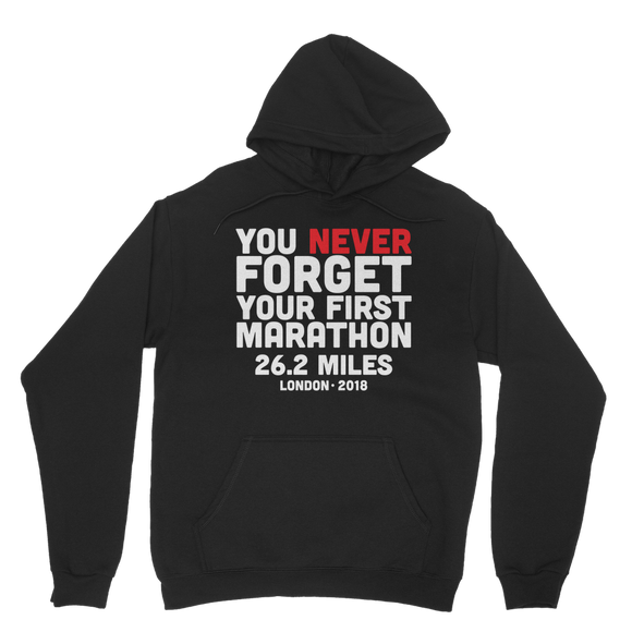 You Never Forget Your First Marathon London 2018 Classic Adult Hoodie