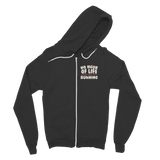 No Hour of Life is Wasted When You've Running Classic Adult Zip Hoodie