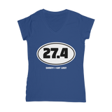 27.4 Sorry I Got Lost Classic Women's V-Neck T-Shirt