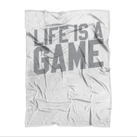 Life is a Game Rugby is Serious Sublimation Adult Blanket