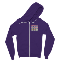 Weekend Weather Sunny With a Chance of Bowling? Classic Adult Zip Hoodie