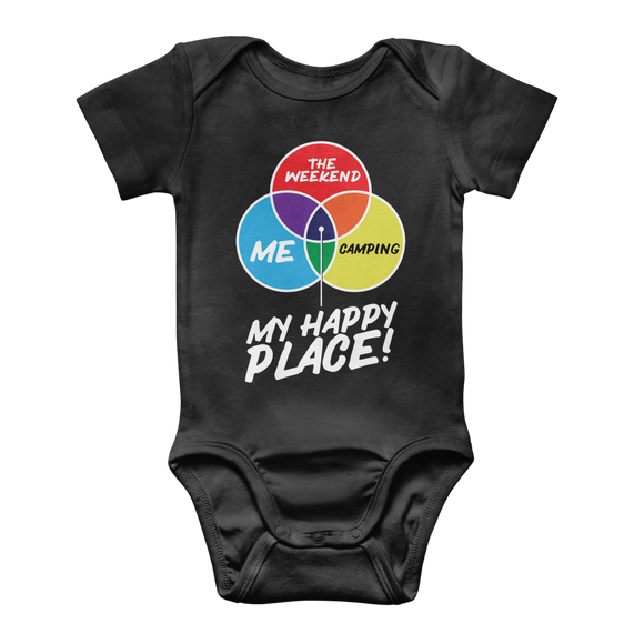 Camping is My Happy Place Classic Baby Onesie Bodysuit
