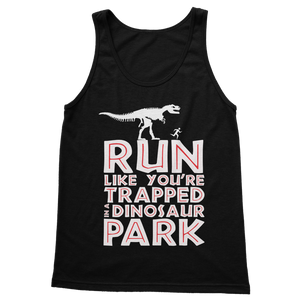 Run Like You Are Trapped In A Dinosaur Park Classic Adult Tank Top