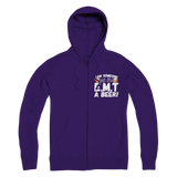 Can Someone Get This E.M.T a Beer! Premium Adult Zip Hoodie