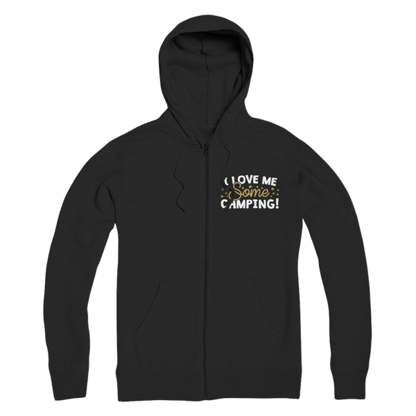 I Love Me Some Camping Premium Adult Zip Hoodie