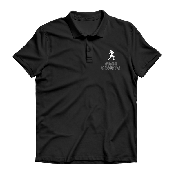 Free Donuts Premium Adult Polo Shirt