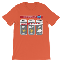 Weekend Weather Sunny With a Chance of Biking? Classic Kids T-Shirt