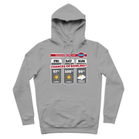 Weekend Weather Sunny With a Chance of Bowling? Premium Adult Hoodie