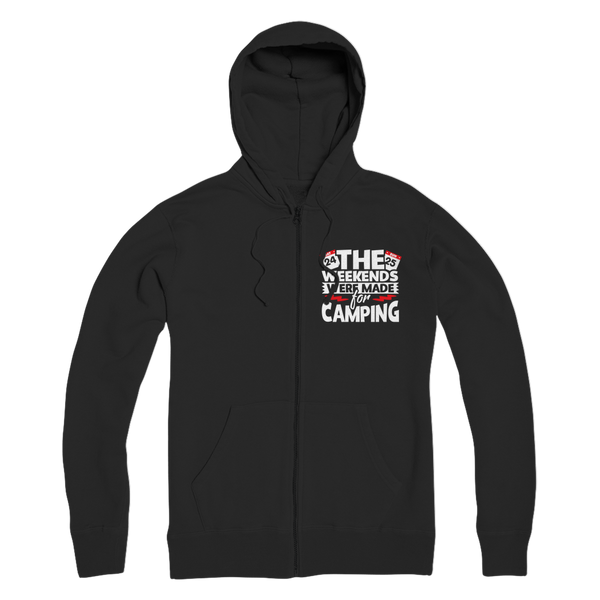 The Weekends Were Made For Camping Premium Adult Zip Hoodie