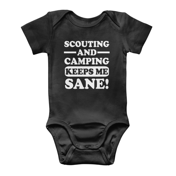 Scouting And Camping Keeps Me Sane Classic Baby Onesie Bodysuit