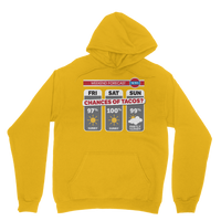 Weekend Weather Sunny With a Chance of Tacos? Classic Adult Hoodie