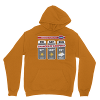Weekend Weather Sunny With a Chance of Camping? Classic Adult Hoodie