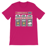 Weekend Weather Sunny With a Chance of Reading? Premium Kids T-Shirt