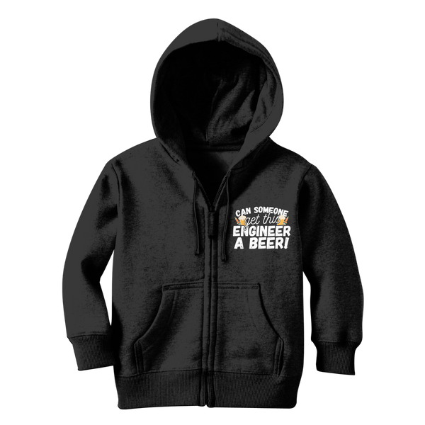 Can Someone Get This Engineer a Beer! Classic Kids Zip Hoodie