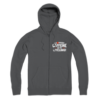 I Convert Caffeine into Cycling Premium Adult Zip Hoodie