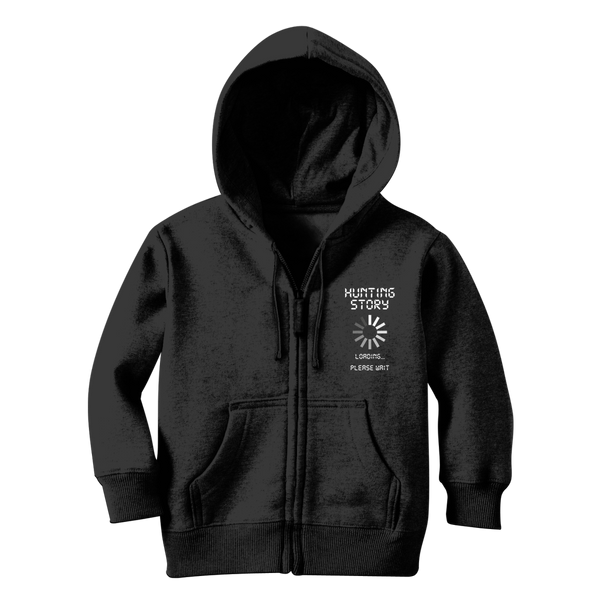 Hunting Story Loading... Please Wait Classic Kids Zip Hoodie