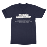 Some Of My Favorite Things Are Cycling Classic Adult T-Shirt