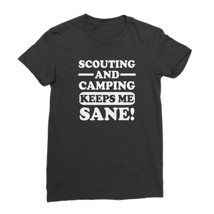 Scouting And Camping Keeps Me Sane Premium Jersey Women's T-Shirt