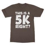 This Is A 5k Right? Classic Adult T-Shirt