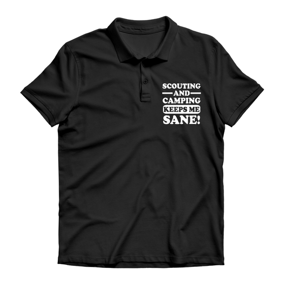 Scouting And Camping Keeps Me Sane Premium Adult Polo Shirt