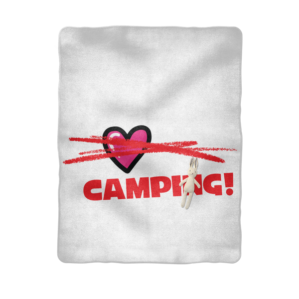 All You Need is Love No Camping! Sublimation Baby Blanket
