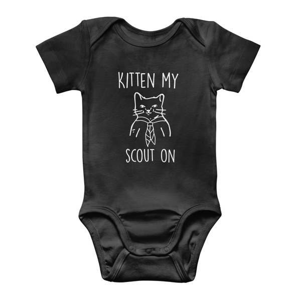 Kitten My Scout On Classic Baby Onesie Bodysuit