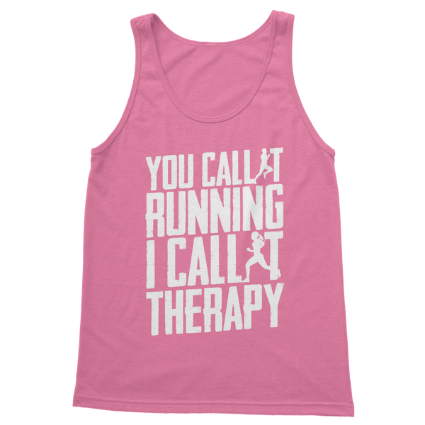 You Call It Running I Call It Therapy Classic Women's Tank Top