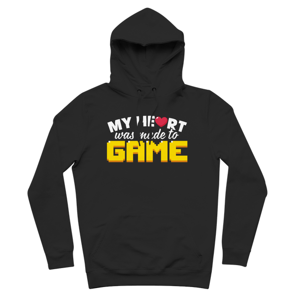 My Heart Was Made To Game Premium Adult Hoodie