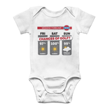 Weekend Weather Sunny With a Chance of Golf? Classic Baby Onesie Bodysuit