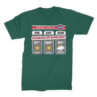 Weekend Weather Sunny With a Chance of Bowling? Premium Jersey Men's T-Shirt