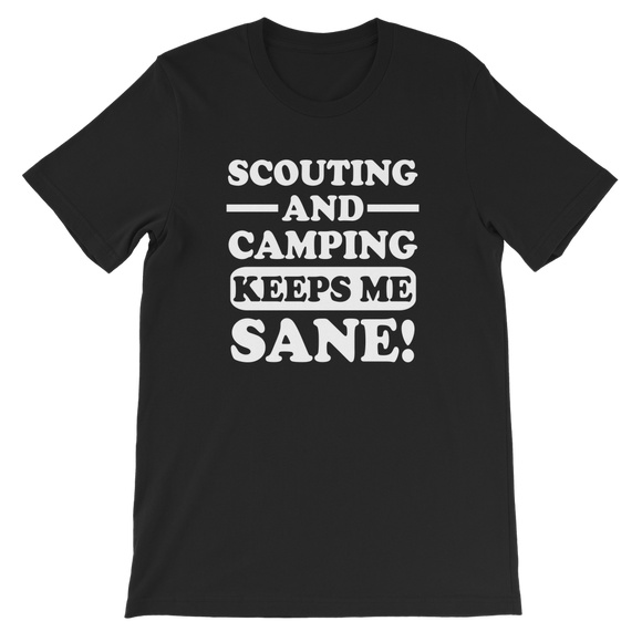Scouting And Camping Keeps Me Sane Classic Kids T-Shirt