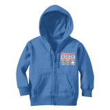 Weekend Weather Sunny With a Chance of Biking? Classic Kids Zip Hoodie