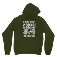 If At First You Don't Succeed Guide Leader Classic Adult Hoodie